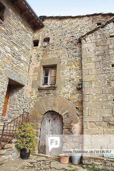 Mittelalter Natur Dorf Mittelpunkt Katalonien
