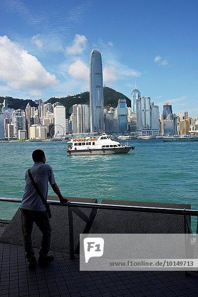 Skyline Skylines Hafen Großstadt Boot China