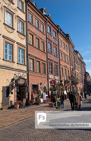 Warschau Hauptstadt Straße Stadt Quadrat Quadrate quadratisch quadratisches quadratischer alt Polen