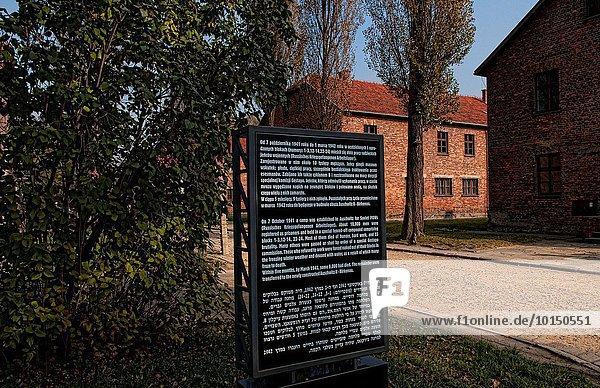 Konzentration Gebäude Ziegelstein camping Grauen Polen