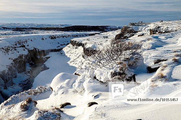 Gulfoss waterfall  Golden Circle  Iceland.