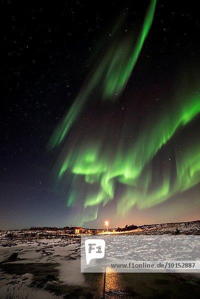 Winter Nacht Himmel Island