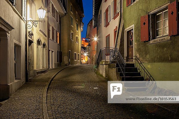 Evening in Laufenburg  historic border town in Switzerland and Germany.