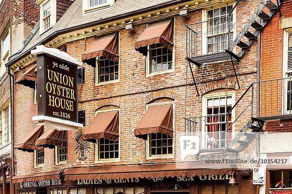 Vereinigte Staaten von Amerika USA Wohnhaus Einheit Boston Massachusetts Auster Gewerkschaft