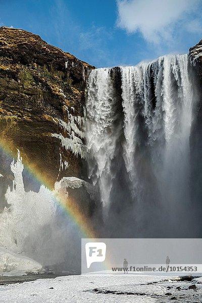 Winter Wasserfall Island