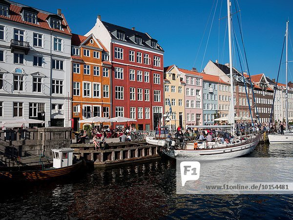 Hafen Motorjacht Tradition Boot Dänemark Kopenhagen Hauptstadt Zimmer Nyhavn
