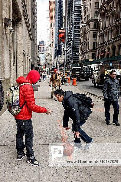 Bankenviertel Jugendlicher New York City Freundschaft Student Manhattan