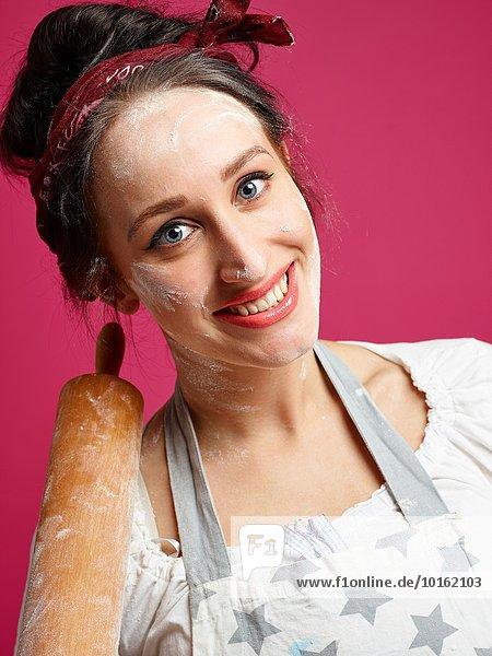 Gerät Humor Küche Close-up pink Hausfrau pinker Hintergrund