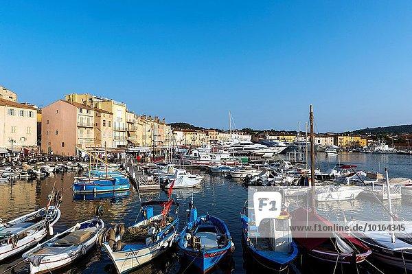 Hafen Frankreich Europa Abenddämmerung Saint Tropez Var