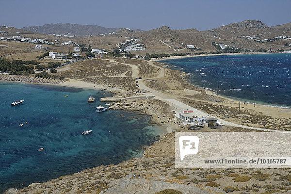 Doppelstrand von Kalafati  Mykonos  Kykladen  Griechenland  Europa