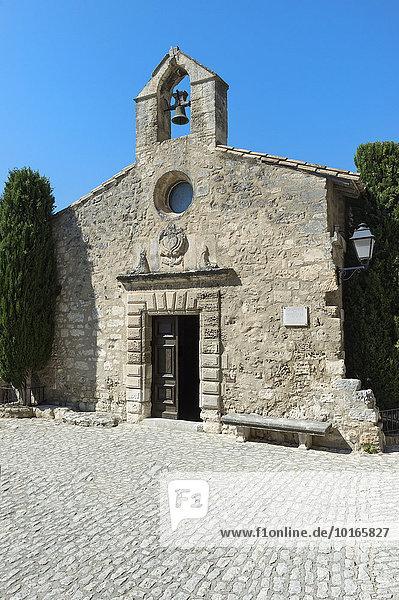 Büßer-Kapelle  im mittelalterlichen Dorf Les Baux-de-Provence  Bouches du Rhone  Provence Alpes Cote d'Azur  Frankreich  Europa