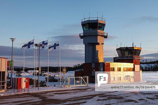 Europa Flughafen Finnland Lappland