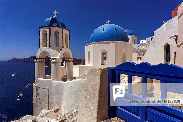 Europa Kirche Dorf Griechenland Santorin russisch orthodox russisch-orthodox griechisch Oia Ia