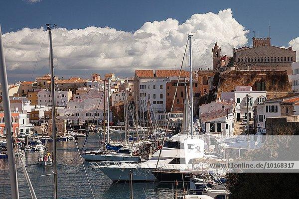 Hafen Europa Insel Menorca Spanien