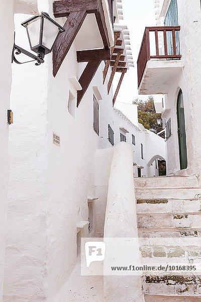 Europa Straße Dorf Insel Menorca Spanien