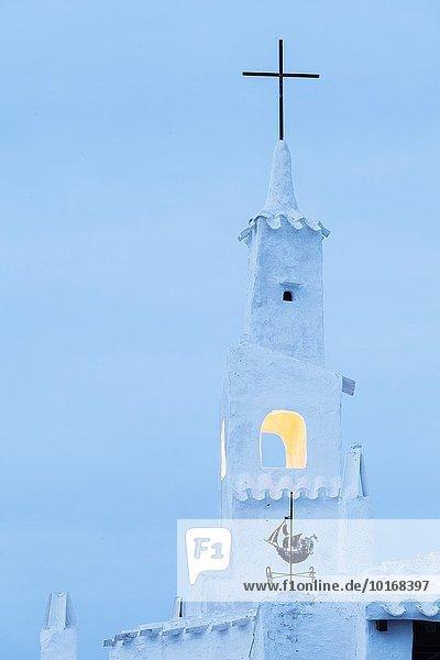 Europa Dorf Insel Glocke Menorca Spanien