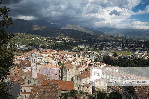 Stadtansicht  Altstadt von Corte  Korsika  Frankreich  Europa
