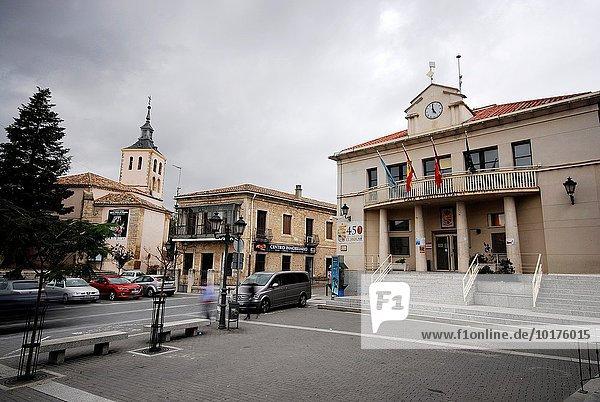 Madrid Hauptstadt Halle Stadt Quadrat Quadrate quadratisch quadratisches quadratischer Spanien