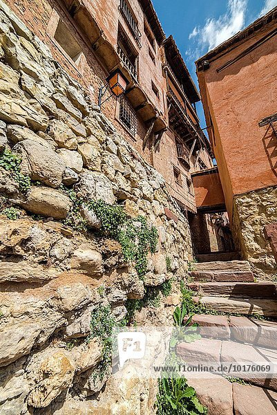Lifestyle Dorf Richtung Mittelalter Aragonien Erbe Spanien