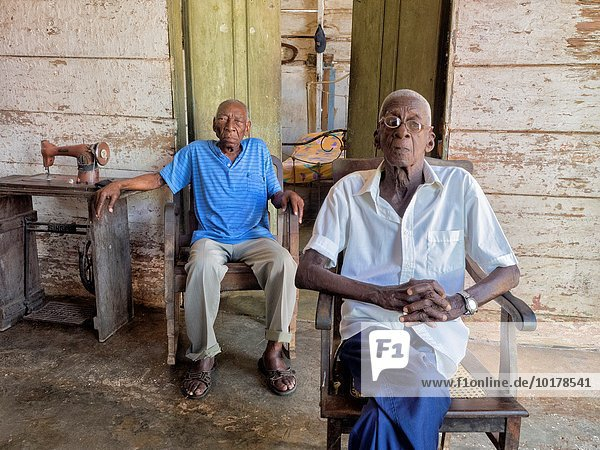 Two old man  Remedios city  Cuba.