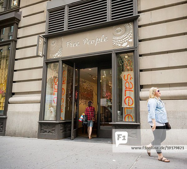 A Free People women´s clothing store in New York