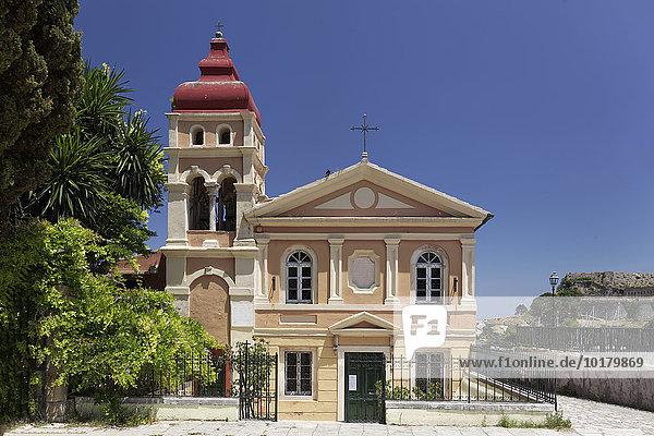 Griechisch orthodoxe Panagia Mandrakina Kirche oder Jungfrau Maria Kirche  Altstadt  Korfu Stadt  Kerkyra  Unesco Weltkulturerbe  Insel Korfu  Ionische Inseln  Griechenland  Europa