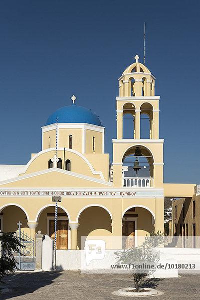 Kirche St. George  Agios Georgios  Oia  Santorin  Griechenland  Europa