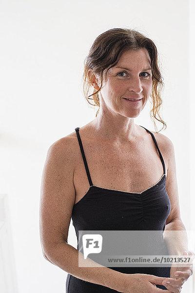 Europäer Frau lächeln