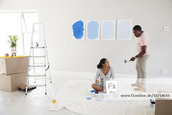 Farbe Farben Muster Eigentumswohnung Untersuchung bemalen neues Zuhause