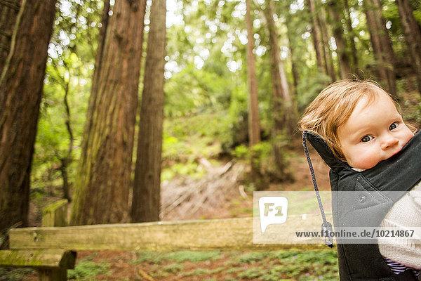Rucksack Europäer Wald Mädchen Baby