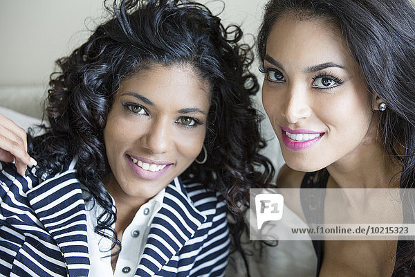 Close up of smiling women
