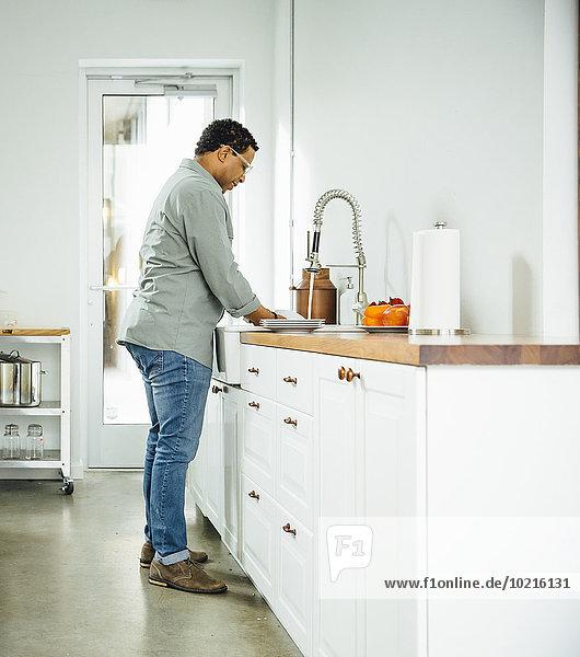 Mann waschen Küche mischen Essgeschirr Mixed Mann,waschen,Küche,mischen,Essgeschirr,Mixed