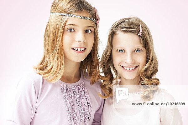 stehend lächeln Close-up Mädchen