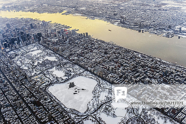 Aerial view of New York cityscape  New York  United States