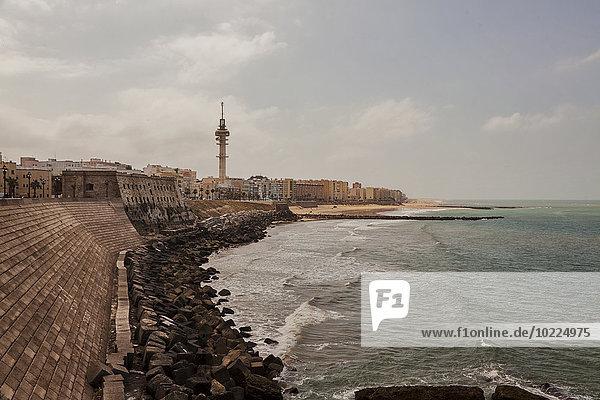 Spanien  Blick auf die Küste von Cádiz