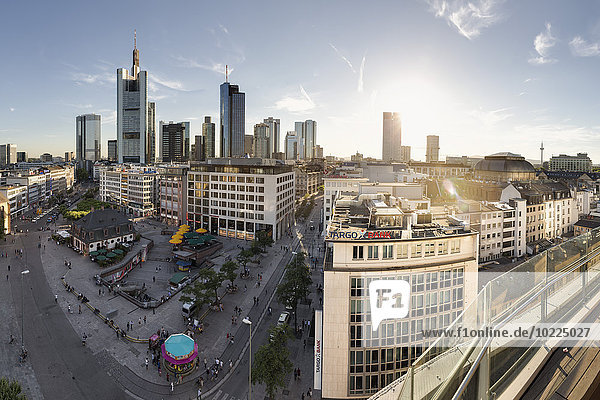 Germany  Hesse  Frankfurt  Skyline with Financial District
