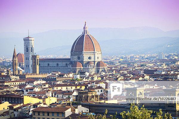 Italien  Florenz  Stadtbild mit Basilika Santa Maria del Fiore