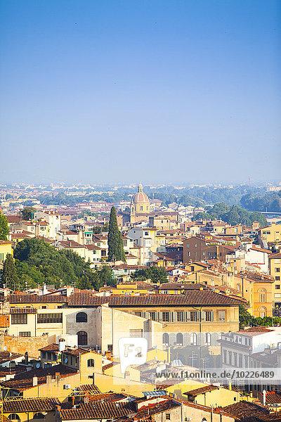 Italien  Florenz  Stadtbild vom Piazzale Michelangelo aus gesehen