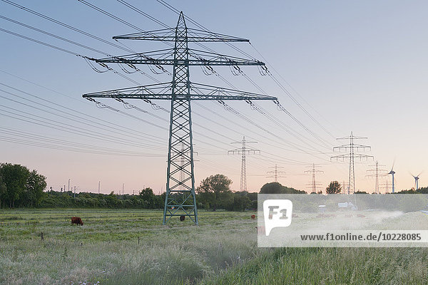 Deutschland  Hamburg  Freileitungen im ländlichen Raum