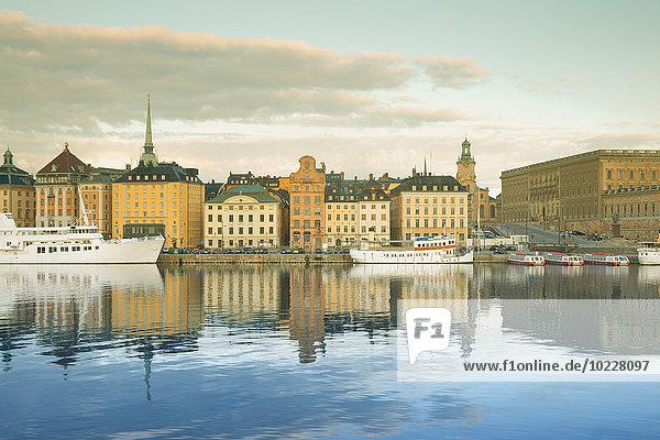 Schweden  Stockholm  Blick auf Gamla Stan  Altstadt
