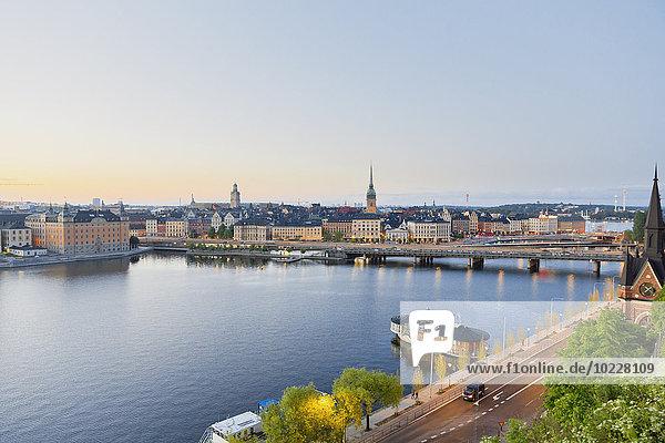 Schweden  Stockholm  Blick von der Soedermalm auf die Altstadt
