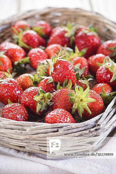 Wickerbasket von Erdbeeren