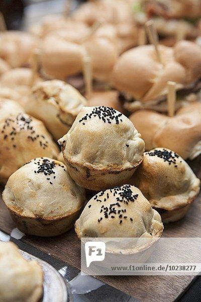 Minipies auf dem Markt