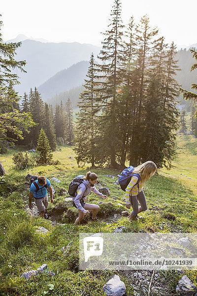 Berg Freundschaft Landschaft wandern