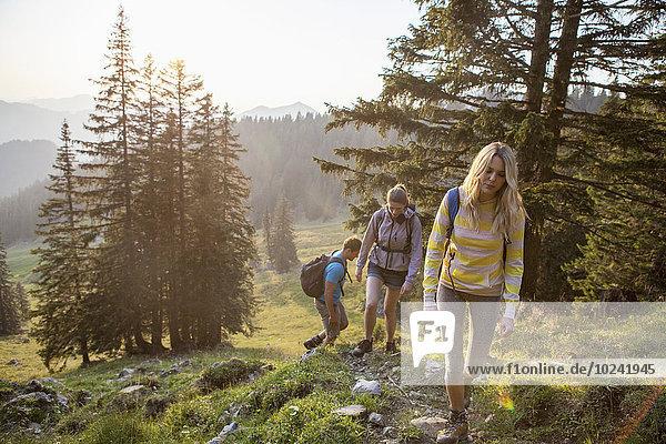 Berg, Freundschaft, Landschaft, wandern