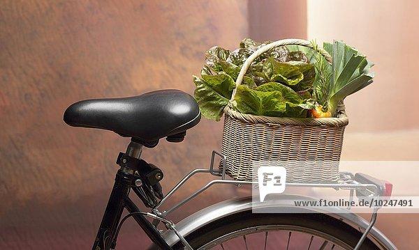 Korb Gemüse Fahrrad Rad