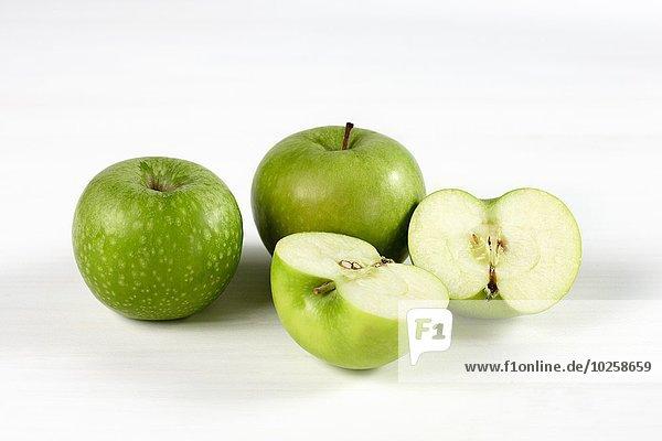 weiß Hintergrund Apfel Großmutter