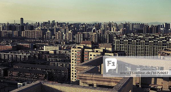 Blick auf das Stadtbild gegen den Himmel  Peking  China
