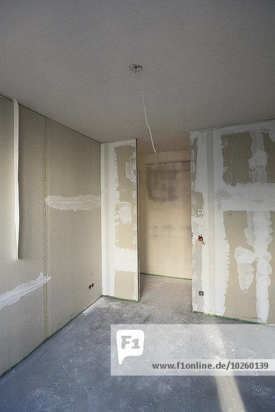 Interieur des zu renovierenden Hauses