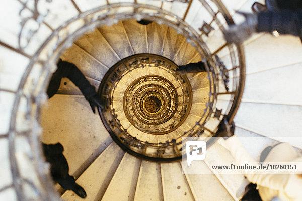 Direkt über der Wendeltreppe in der Stephanskirche